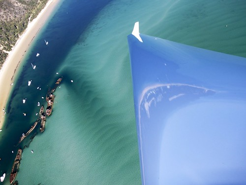 Moreton Island Wrecks from up above