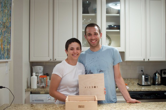 Sarah and Dave with their Pie Box