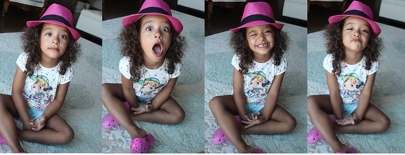 pembe şapkalı