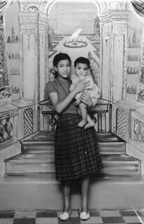 "Maroc, 10 septembre 1962, ""souvenir de Fatima et la petite Baija""."