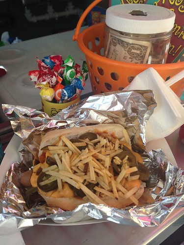 The Mexican Rosie Dogs at Rosies Weenie Wagon Food Truck