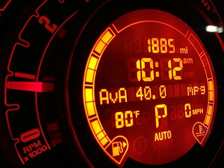 Fuel consumption indicator