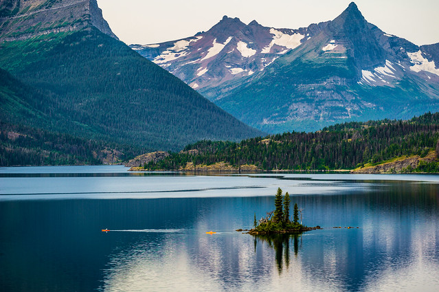 Wild Goose Island, Many Glacier National Park, Montana