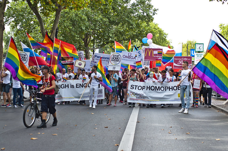 """Enough is enough – Open your mouth!"", Demonstration against homophobia in Russia"