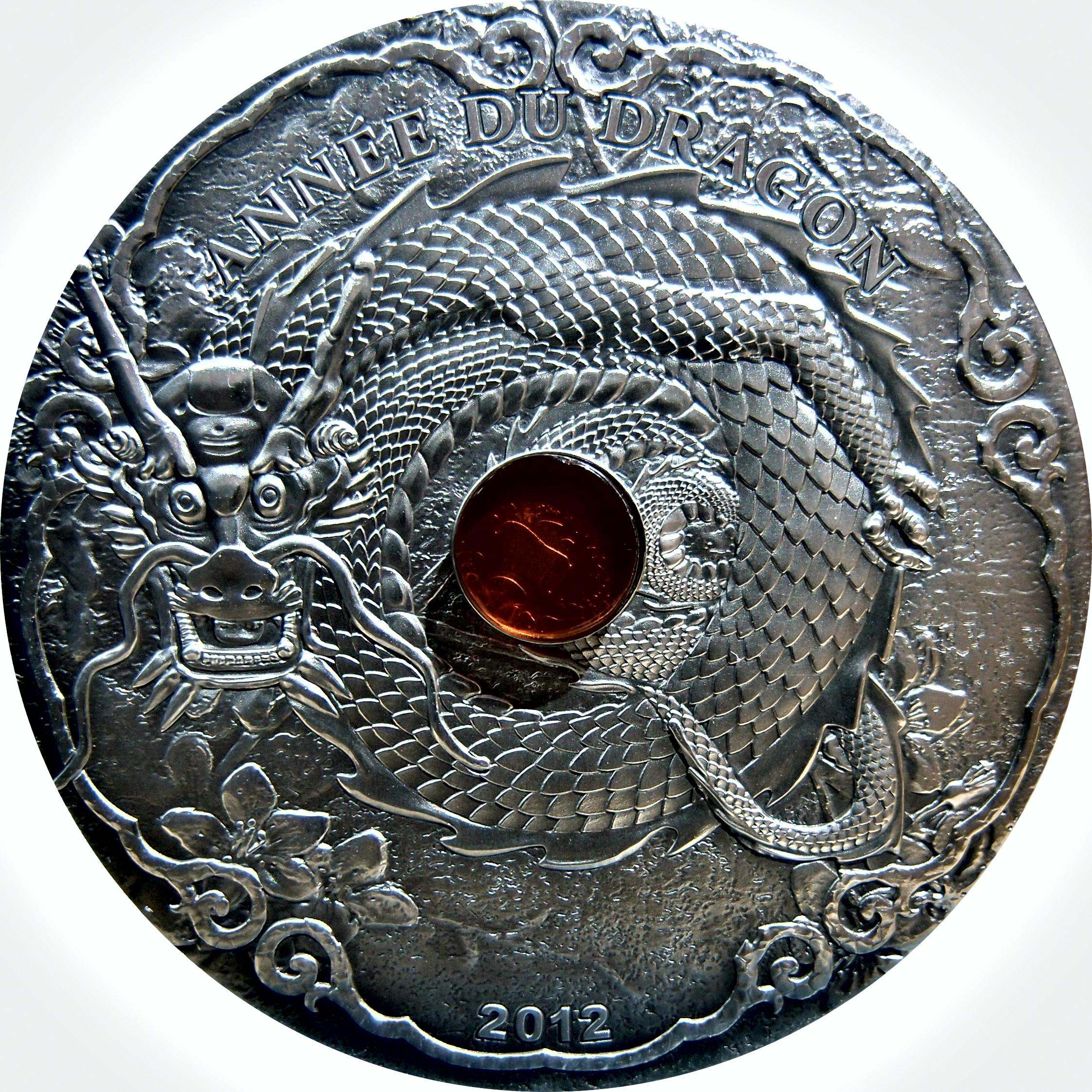 Togo. 1500 Francos CFA . 2 Onzas. 2012 Año del Dragón. 9636570434_420679e250_o