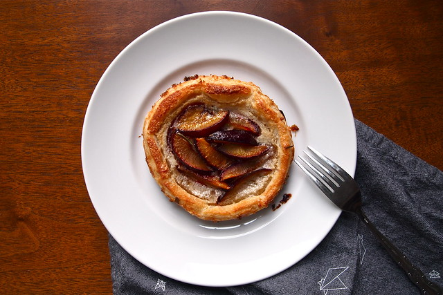 Plum and rosemary galette