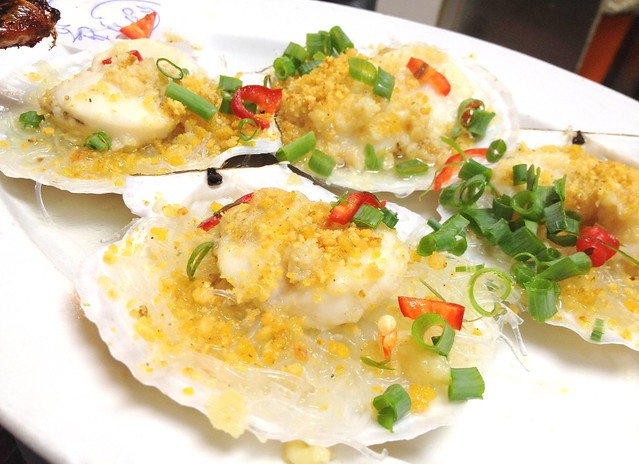 Steamed Scallops with Minced Garlic