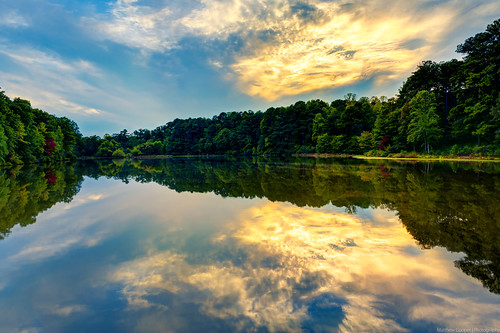 statepark sunset lake water clouds reflections georgia landscape mirror golden nikon bluesky hdr sweetwater d800 sweetwatercreek douglasville