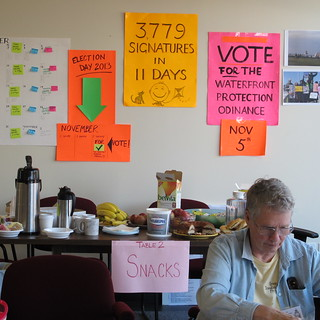 The Protect South Portland campaign office.  Photo: Susan Sharon 10082013.