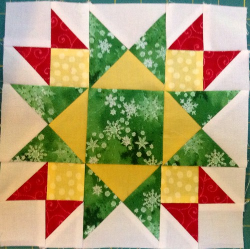 Jingle pieced block 7