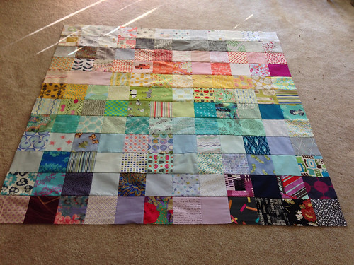 Rainbow-esque charity quilt