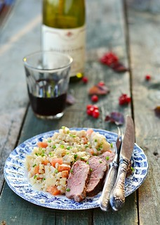 barley groats with duck fillet.5