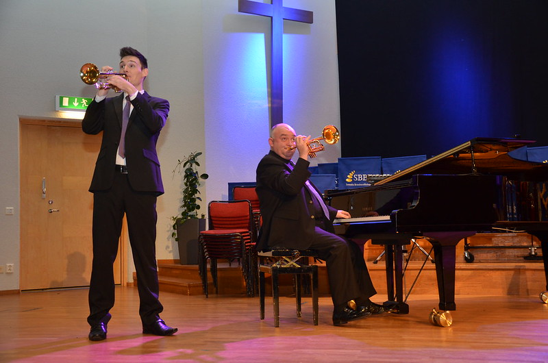 Svenska Brassbandfestivalen 2013 - Paul Duffy och James Morrison (foto: Olof Forsberg)
