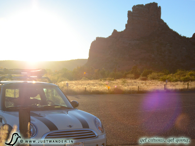 PIC: Mini Cooper Sunset at Red Rocks of Sedona, Arizona