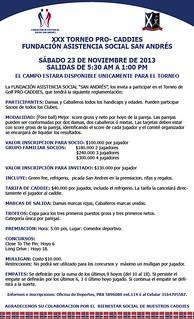 XXX Torneo ProCaddies 2013 - Reglamento