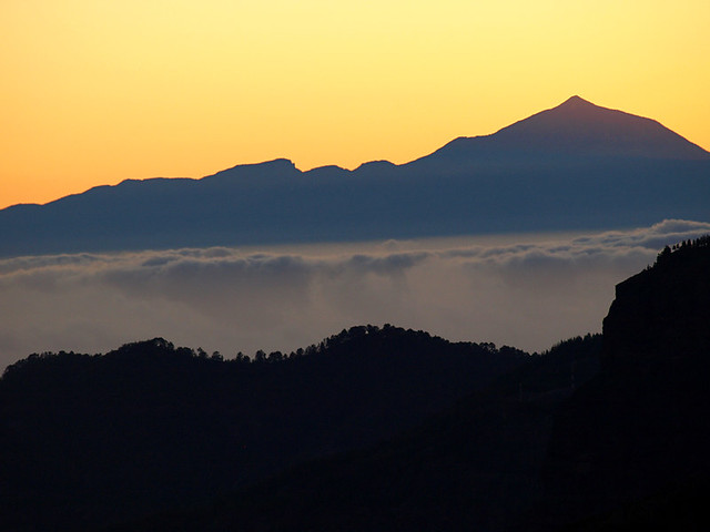 Mount Teide from Gran Canaria