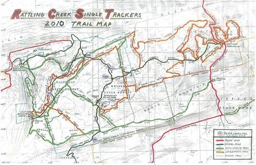 rattling creek map