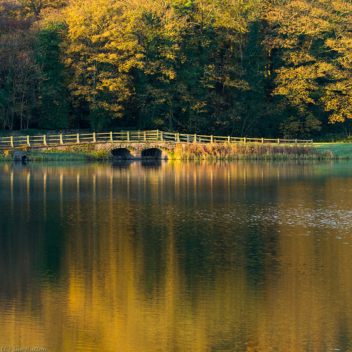 bridge autumn sunrise reflections waterbody november2013 nanpantanreservoir t189522013