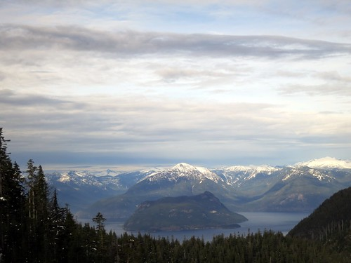 Howe Sound from the Eagle Express chairlift