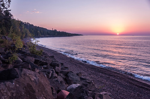 lake beach nature water minnesota sunrise landscape shoreline lakesuperior