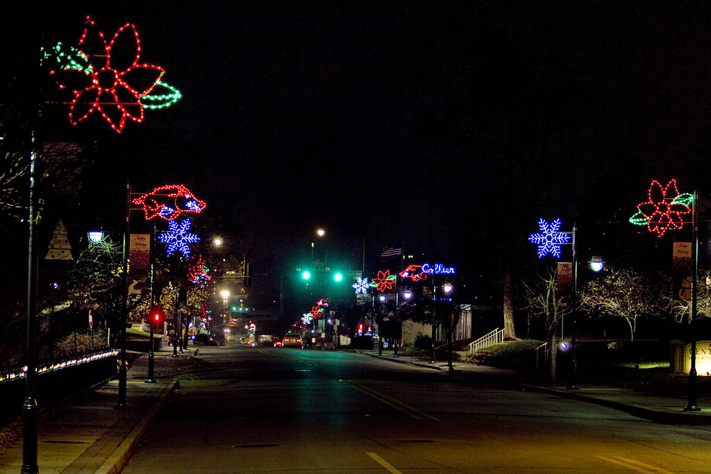 Have a look at the new holiday lights on dickson street for Sidewalk christmas lights