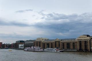 Quartier de Sad Thames sur la rive Sud de la Tamise
