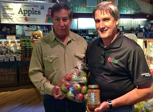 Under Secretary Edward Avalos and John Lyman III, owner of Lyman Orchards, tour the orchard's Apple Barrel Market in Middlefield, CT.  A Farm Bill is crucial to the long-term stability of family-owned farms and orchards.