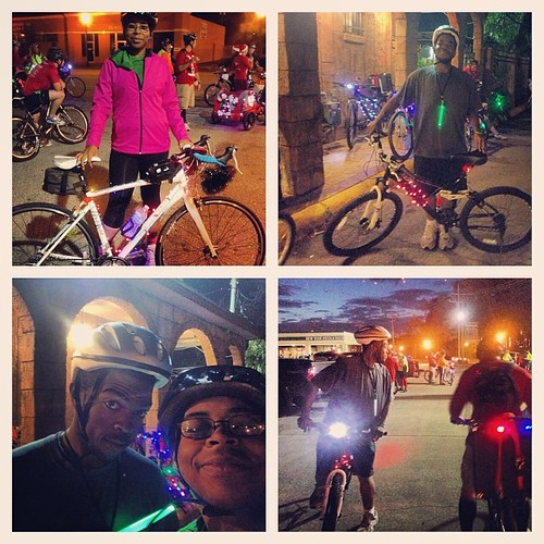 Our first year doing the #christmas light #bike ride and it was SO fun! Thanks for the good times my friends and of course a big thanks to Amie James!