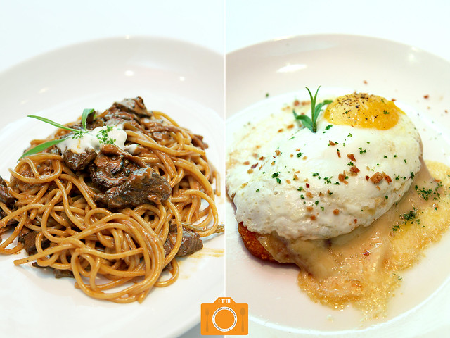 L'entrecote Stroganoff and Rosti Tower