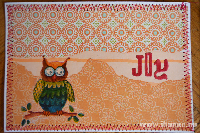 Owl Joy DIY Postcard by Outi