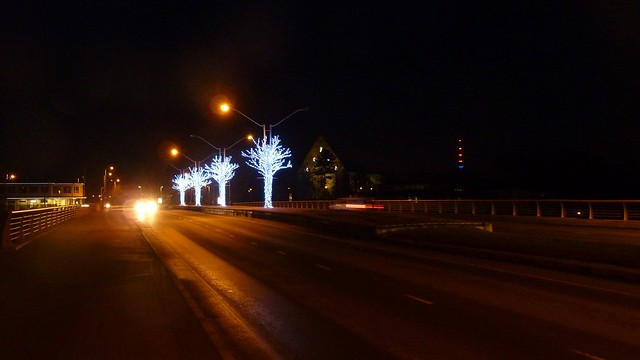 Bridge of Pirita river, Christmas 2013