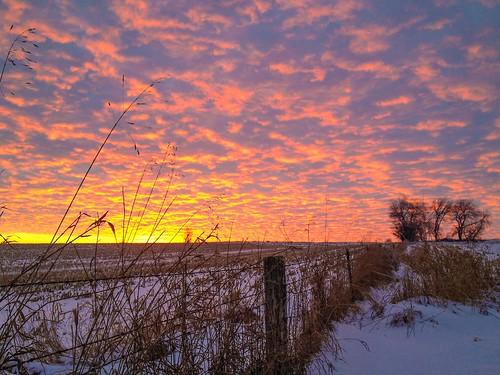 Oneco, Illinois sunset