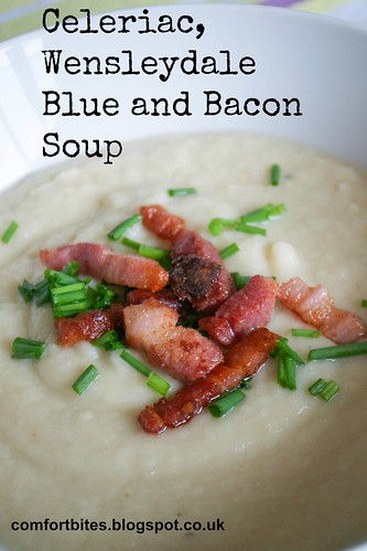 celeriac wensleydale blue and bacon soup pic