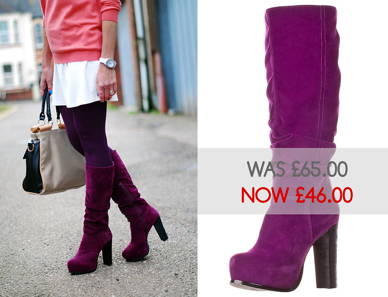 Even & Odd purple boots - sale