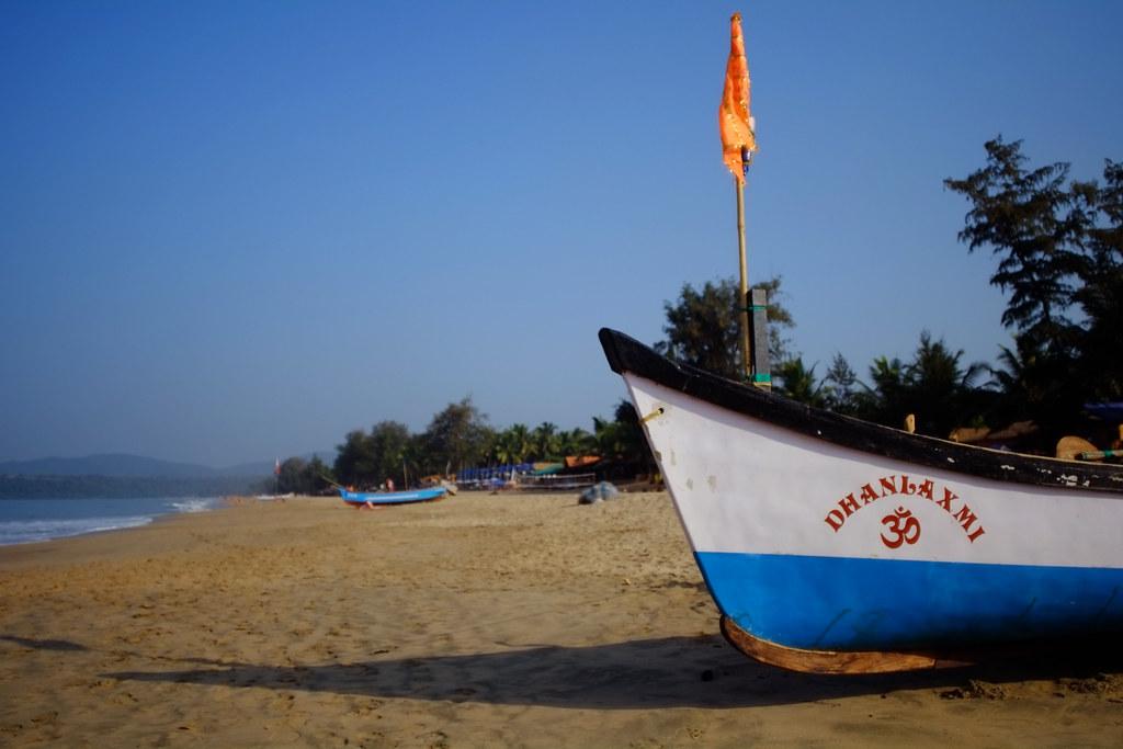 Boat on Agonda Beach