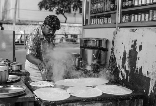Indian Street Food B&W
