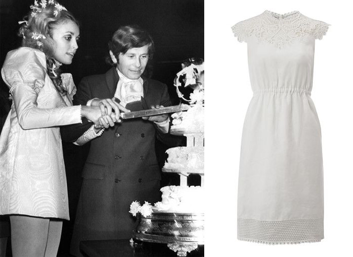 Sharon Tate short wedding dress