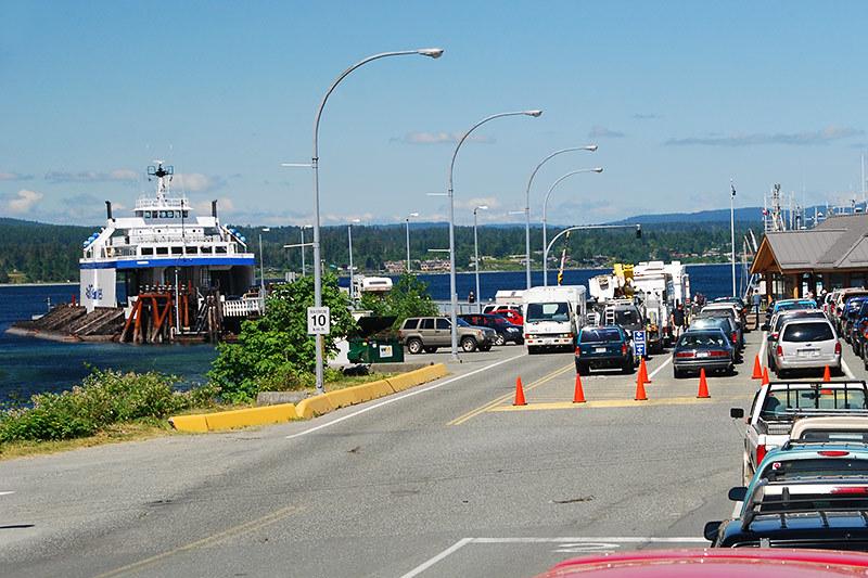 Quathiaski Cove Ferry Terminal, Quadra Island, Discovery Islands, British Columbia, Canada