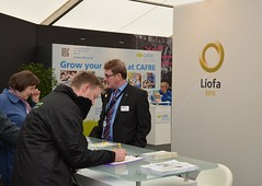 Members of the public sign up for Líofa at the Balmoral show.