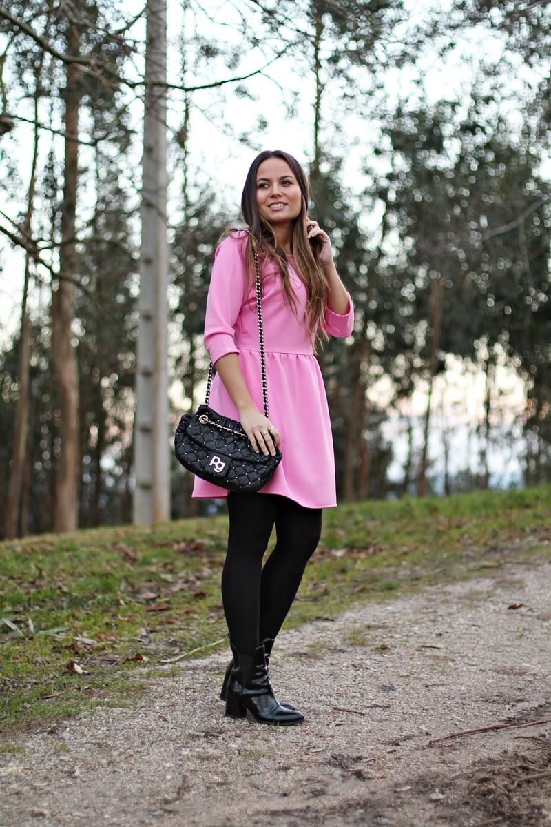 vestido, rosa, pink