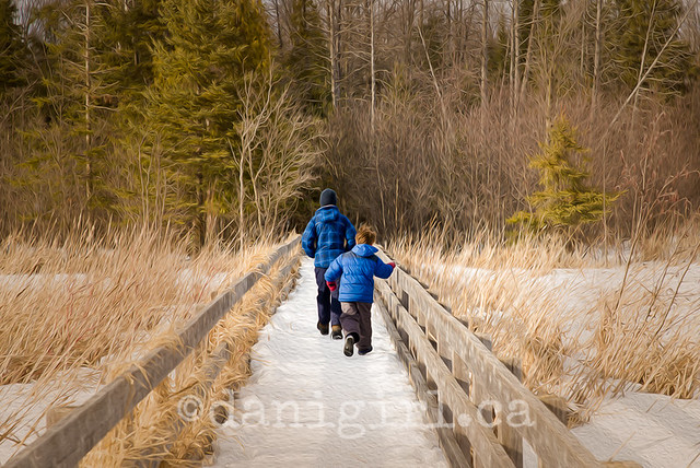 outdoor portrait of brothers on the jack pine trail in winter