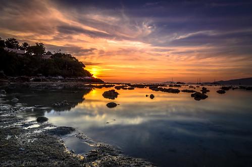 longexposure sunset cloud reflection beach nature water thailand island asia d5100