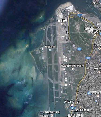 那覇空港Googleマップ