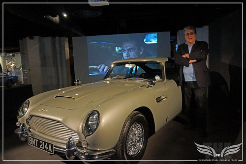 The Establishing Shot BOND IN MOTION - VIC ARMSTRONG WITH THE ASTON MARTIN DB5 @ LONDON FILM MUSEUM COVENT GARDEN by Craig Grobler