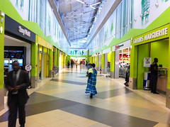 A shopping mall in Côte d'Ivoire. While malls like these appeal to the upper middle class and the upper classes, several supermarkets and stores are  beginning to targeting the middle class. Credit: Marc-André Boisvert/IPS