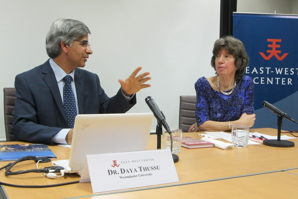Dr. Daya Thussu discusses his book, Communicating India's Soft Power: Buddha to Bollywood, at the East-West Center in Washington
