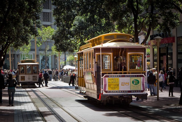 cable cars, San Francisco (by: Justin Brown, creative commons)