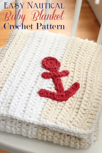 nautical baby blanket free crochet pattern