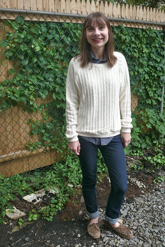 Grainline Studio Linden in O! Jolly! sweater knit | Ginger Makes