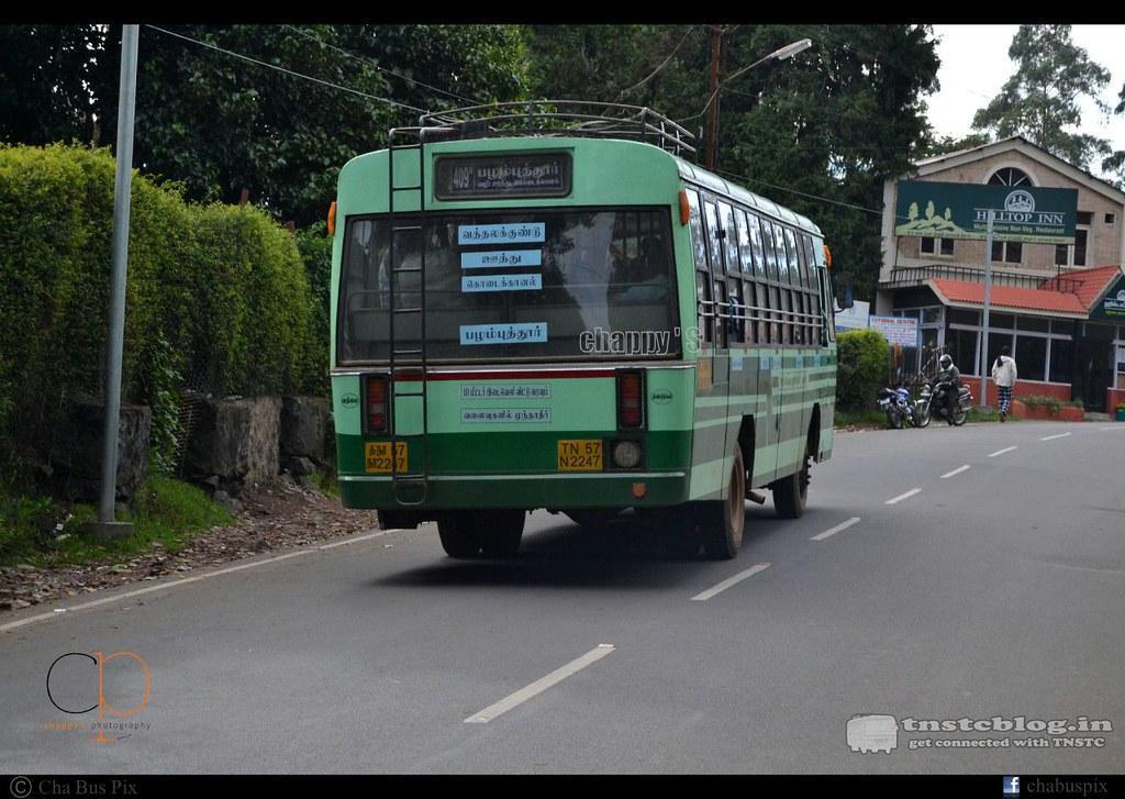 TN-57N-2247 of Vathalagundu Depot Route 409B Vathlagundu - Palamputhur via Oothu, Kodaikanal.